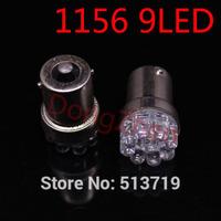 Wholesale 1X 1156 382 BA15S P21W R5W auto Turn Signal Tail Brake 9 LED Light White Car Bulb Lamp Y12