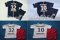 Kids soccer jersey 2014-15 kids blue shorts & shirts 2015 cavani t. Silva lucas beckham Ibrahimovic children jersey bairn shirt