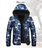 2014 New Fashion camouflage men's winter Jacket Double side wear thickening warm Overcoat
