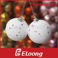 Eloong 6pcs/bag 6cmChristmas gift Christmas Tree Ornaments 6cm Christmas Ball Snowball Free Shipping H008
