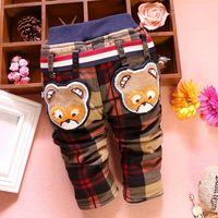 4pc/lot boys trousers plaid for baby clothing kids pants thicken velvet children wholesale panya dzj85