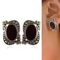 Accessories fashion vintage glaze pd c33 classical elegant stud earring white collar