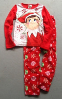1 Sets / lot new 2014 baby boys girls Winter Warm Christmas Pajamas sleepwear suits costumes children kids