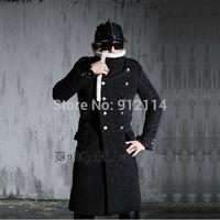 New 2014 England yuppie Fashion winter fur Windbreaker men double-breasted Long section casual men's Windbreaker coat jacket