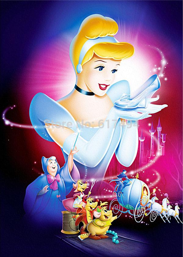 Home decoration cartoon poster print on canvas Cinderella Slipper A958(China (Mainland))