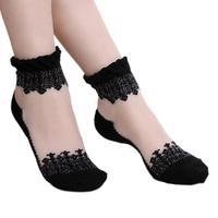 Student Lace Socks  Sweet Socks Princess Short Socks for Spring Summer Autumn