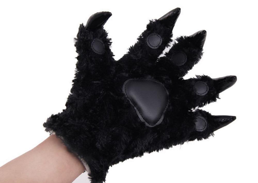 Bear cat cartoon animal paw claw hand gloves women men black china