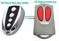 replace remote key for Italy V2 garage door/ face to face copy with fixed frequency 433mhz / High quality with competitive price