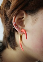 Accessories female punk rivet neon color stud earring earrings cs-1 original single