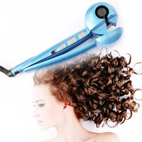 AUTOMATICALLY FORMS PERFECT CURLS HAIR CURLER IRON PROFESSIONAL BLACK MACHINE 3 CURL EFFECTS WITH SALON LENGTH SWIVEL CORD