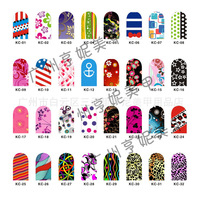 Metal nail art nail stickers new stickers decals glitter stickers decals on Pearlescent powder KC series 30pcs/lot