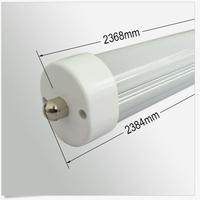 200pcs/lot free shipping LED TUBE 2400MM 8ft 2.4m 40W single pin FA8S 110V high quality T8 tube SMD2835 high lumens