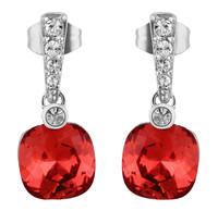 Sumao Women's Lead Free Stud Earrings Red