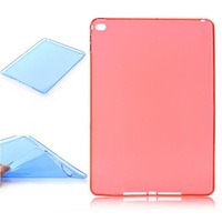 Free Shipping!! Brand New Ultra Thin Soft TPU Mate Back Silicone Clear Case Back Cover Shell for Apple iPad Air 2 iPad 6