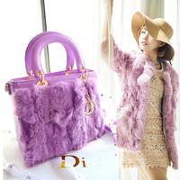 women's handbag 2014 rabbit fur bags fashion rex rabbit hair fur women's handbag bag cross-body