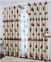 Children room voile curtain cars design window screening sheer cartoon tulle fabric