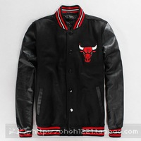 New fashion autumn winter Black Red PU Faux leather patchwork Jackets casual men's clothing plus size mens baseball sweatshirts