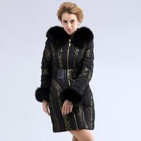 Thick fashion royal for cat lace fashion medium-long luxury women's fur collar down