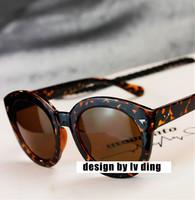 Wholesale 2014 New Star Style Retro Round UVA, UVB UV400 Protection Women Sunglasses Oculos De Sol