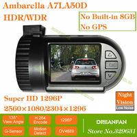 0805 mini 0803 Black Box Car DVR with Ambarella A7LA50D OV4689 1296P 2560*1080 HDR/WDR SOS LDWS