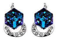 Sumao Women's Engagement Stud Earrings Blue