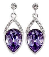 Sumao Women's Anniversary Stud Earrings Purple