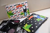 AB689 Bold Fashion animal prints woodpecker women Polka Dots Genuine leather Clutch Wristlet envelope clutch 2015 free shipping