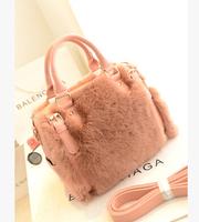 Women's rabbit fur handbag 2014 winter bag fur handbag messenger bag