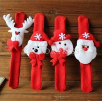 Free Shipping 10pcs/lot Christmas toys Wrist Strap Xmas Supplies Decor Small Gift for kids Santa Claus Snowman Deer 4016-561-10
