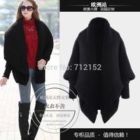 2014 winter fashion elegant women's berber fleece thick woolen outerwear wool coat Wholesale price Fashion loose batwing sleeve
