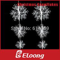 Eloong 6pcs 3 Sizes 26cm 21cm 16cm White Plastic Christmas Snowflake for Xmas Tree  House Window Showcase Party Decoration H004