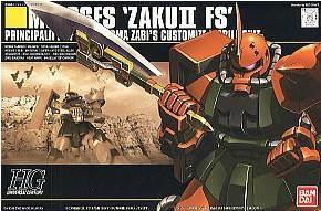 Bandai HGUC 034 1/144 MS-06FS Zaku Commander Type Gundam Model Kit(China (Mainland))