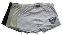 Retail 1 pcs selling men underwear 100%cotton men boxer shorts underpants excellent quality whie,beige,black,gray