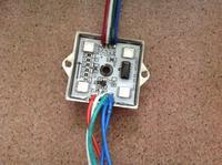 Full Color Power LED Module Light 5050 4LED WS2801 Waterproof Glue DC12V 1.44W IP65 LED Sign Letter Free Shiping