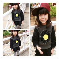 Hu Sunshine wholesale new 2014 autumn winter plus velvet long-sleeve hedging sweater coat sweaters hit color WW11101955H