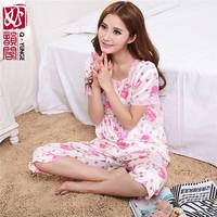 Silk Short Sleeve Sleepwear Women Bath Robe for Sexy Women Lace Pajamas two-piece Pijama L XL XXL