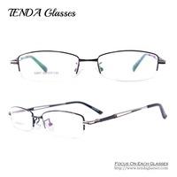 Metal Half Rim Men Eyewear Optical Frame Prescription Glasses For Optical Lens