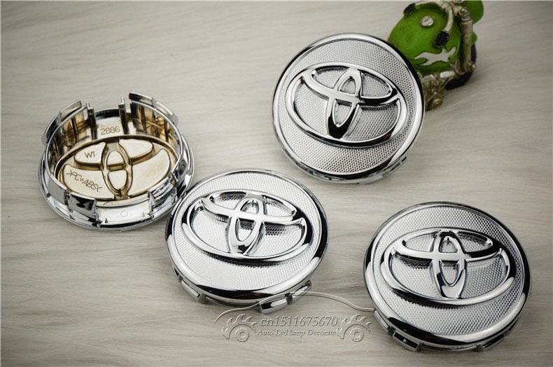 57mm TOYOTA COROLLA Yaris VIOS car emblem Wheel Center Hub Caps Dust-proof Badge covers Auto accessories 4pcs/lot(China (Mainland))