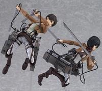 "Attack On Titan Figma  Mikasa Ackerman Eren Kyojin Rivaille  6"" PVC Action Figure Collectible Model Toy"