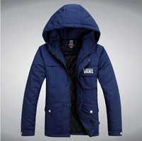 2014 mens winter jacket men's hooded wadded coat winter thickening outerwear male slim casual cotton-padded outwear 3color