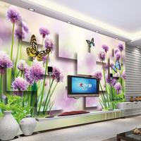Large 3d three-dimensional sofa tv background wall seamless qiangbu rustic Wallpaper