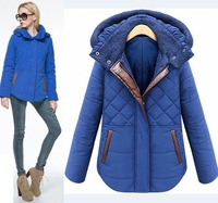 2014 women winter jacket hooded wadded coat thick outerwear female slim casual cotton-padded overcoat oversize ladies blouse