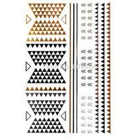 1pc/lot/GT004,Shimmer Temporary Tattoo/back,vervel,arm/Jewelry,arrow,triangle/waterproof Gold Flash fake tatoo sticker sex/CE