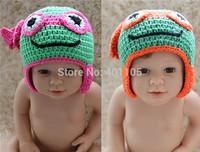 Cartoon Designs Cotton Handmade Children baby Crochet Hats Teenage Mutant Ninja Turtles hat