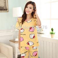 Factory direct wholesale milk Sixia models pajamas cartoon short-sleeved summer pajamas pajama suit tracksuit