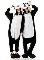 Cute Q Black Wolf Animal Onesies Cosplay Costume Unisex Adult Onesie Pajamas Soft Fleece