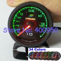 1 Gauge = 34 Colors: 60mm LCD Racing Car Turbo Boost Gauge Meter