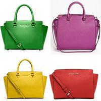 11.11 SALE H1566 AB035  H1671 saffiano Genuine leather Large small medium women handbag Purse Cross Body Satchel free shipping