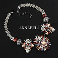 Brand Jewelry 2014 New Vintage Jewelry Flower Choker Shourouk Charm Rhinestone Retro Statement Necklaces & Pendants Gift