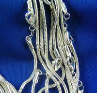 "Hot! Wholesale lots 10pcs 925 Sterling Silver Snake Chain Necklace 16""-30"",10pcs/lot"